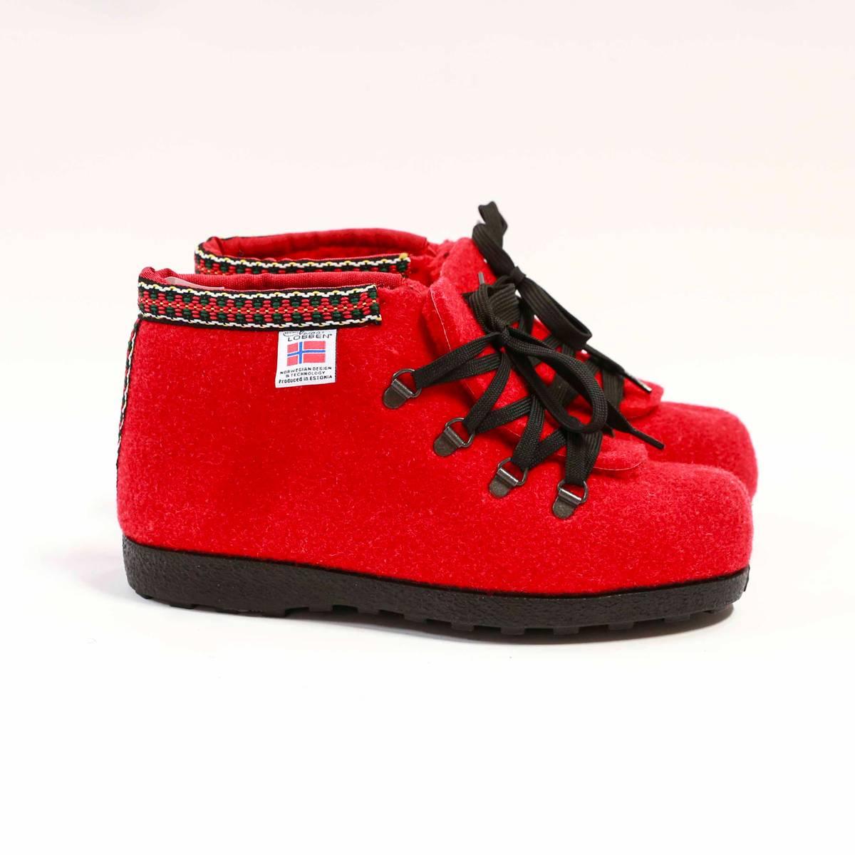 Nesnalobben Afterski sko rød